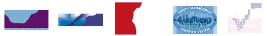 5 accreditations logos